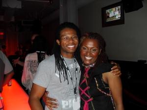 Nu-Soul Editor Norman Mayers with LaSonya Gunter